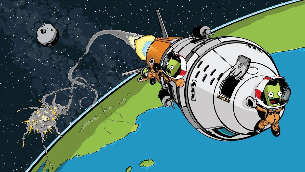 KERBAL SPACE PROGRAM sci-fi cartoon family ksp space flight simulator alien wallpaper