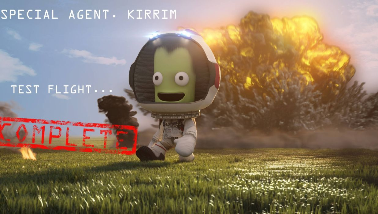 KERBAL SPACE PROGRAM sci-fi cartoon family ksp space flight simulator alien wallpaper