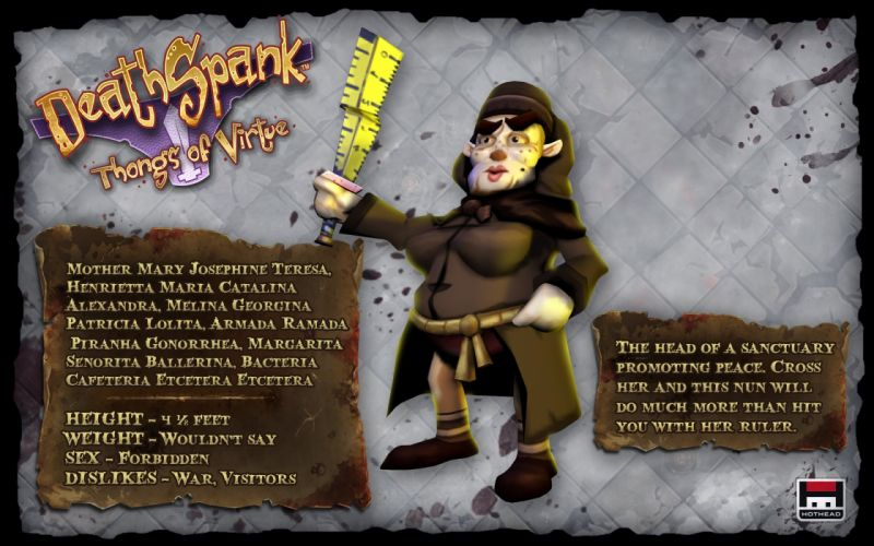 DEATHSPANK action adventure rpg sci-fi co-op fantasy wallpaper