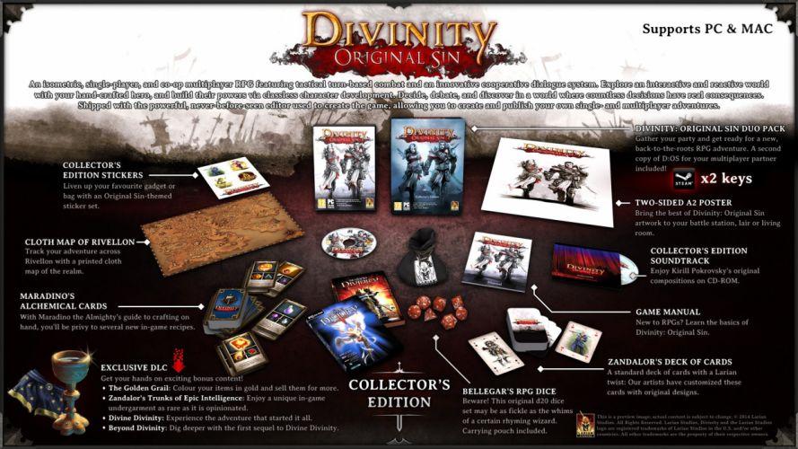 DIVINITY-ORIGINAL-SIN strategy rpg fantasy adventure sci-fi divinity original sin wallpaper