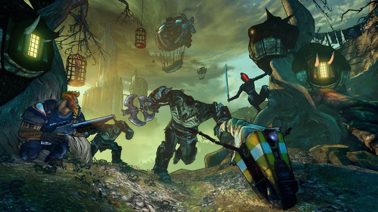 BORDERLANDS 2 Tiny Tinas Assault On Dragon Keep shooter sci-fi action rpg fantasy wallpaper