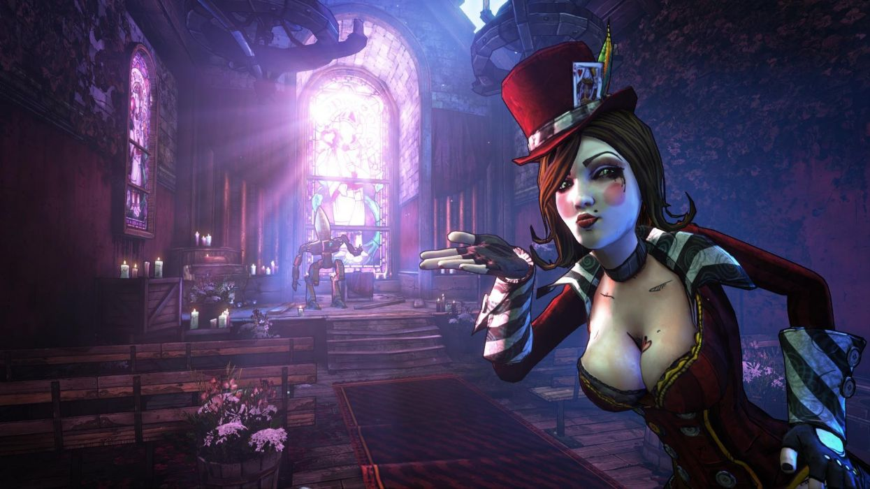 BORDERLANDS 2 MAD MOXXI shooter sci-fi action rpg fantasy wallpaper