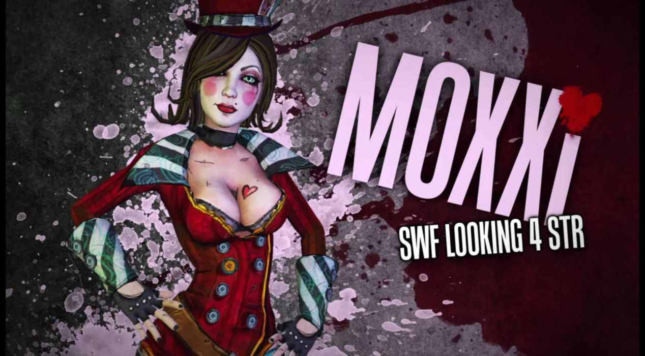 BORDERLANDS 2 MAD MOXXI shooter sci-fi action rpg fantasy wallpaper