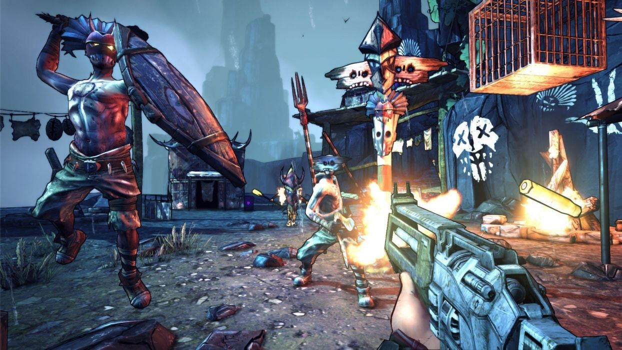 BORDERLANDS 2 Hammerlocks Hunt shooter sci-fi action rpg fantasy wallpaper