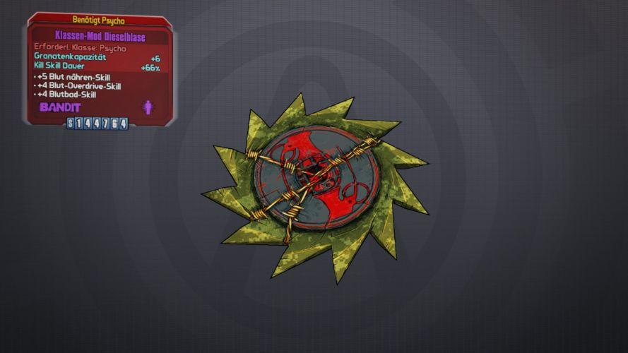 BORDERLANDS 2 Krieg the Psycho shooter sci-fi action rpg wallpaper