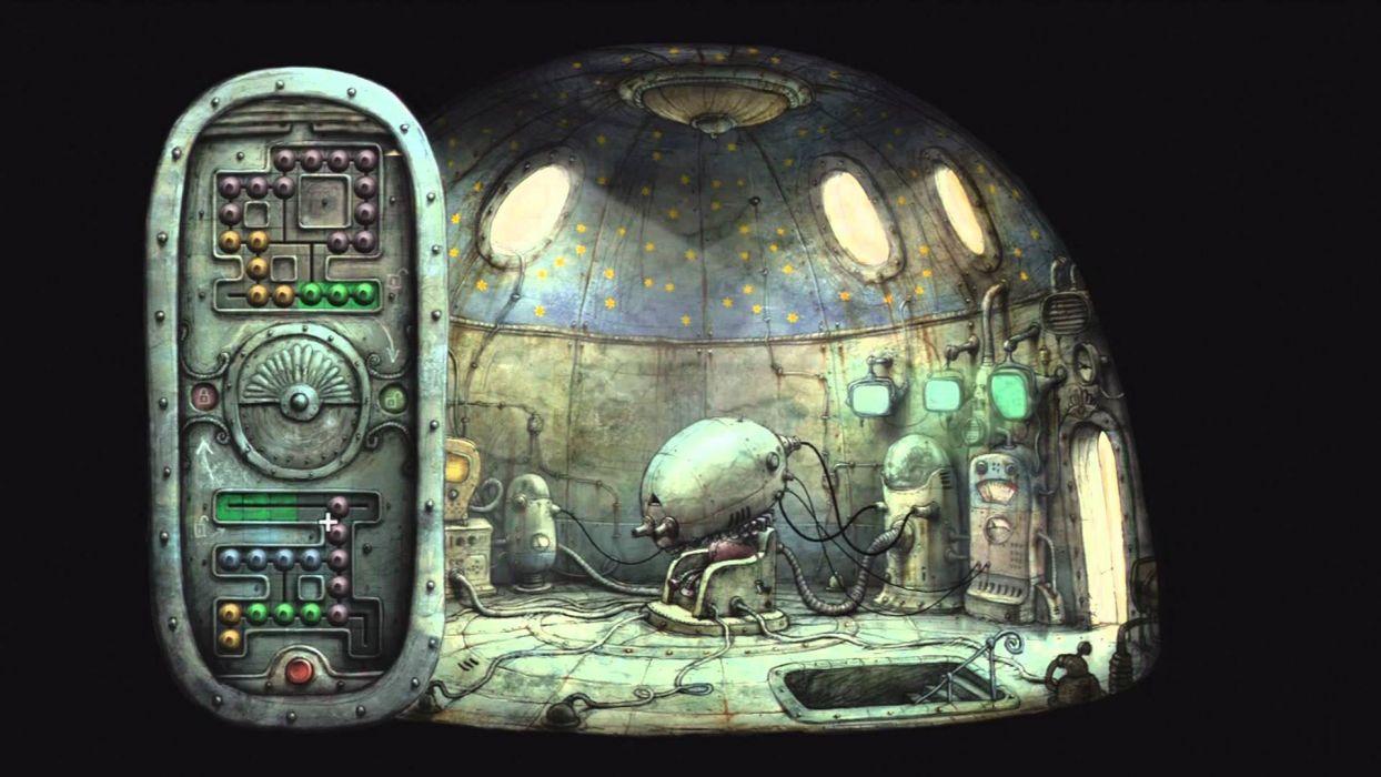 MACHINARIUM puzzle point-and-click adventure sci-fi robot steampunk graphic family wallpaper