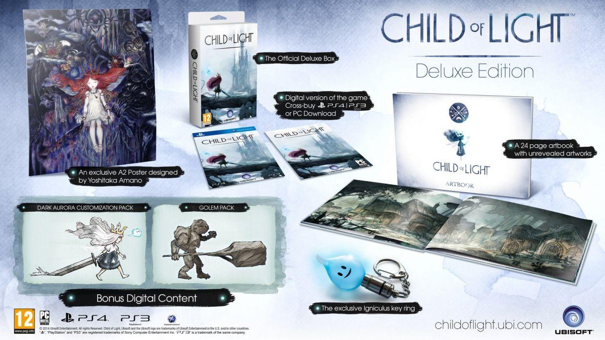 CHILD-OF-LIGHT platform rpg fantasy family child light wallpaper