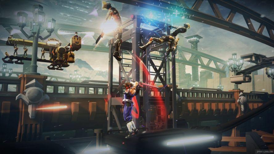 STRIDER scrolling platform fantasy fighting warrior sci-fi wallpaper