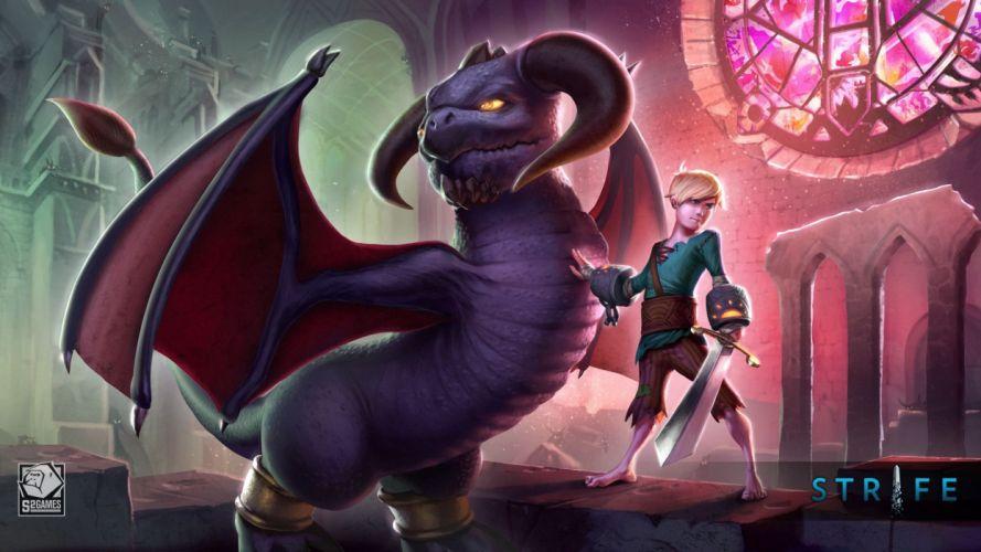 STRIFE online fighting fantasy mmo battle family moba wallpaper