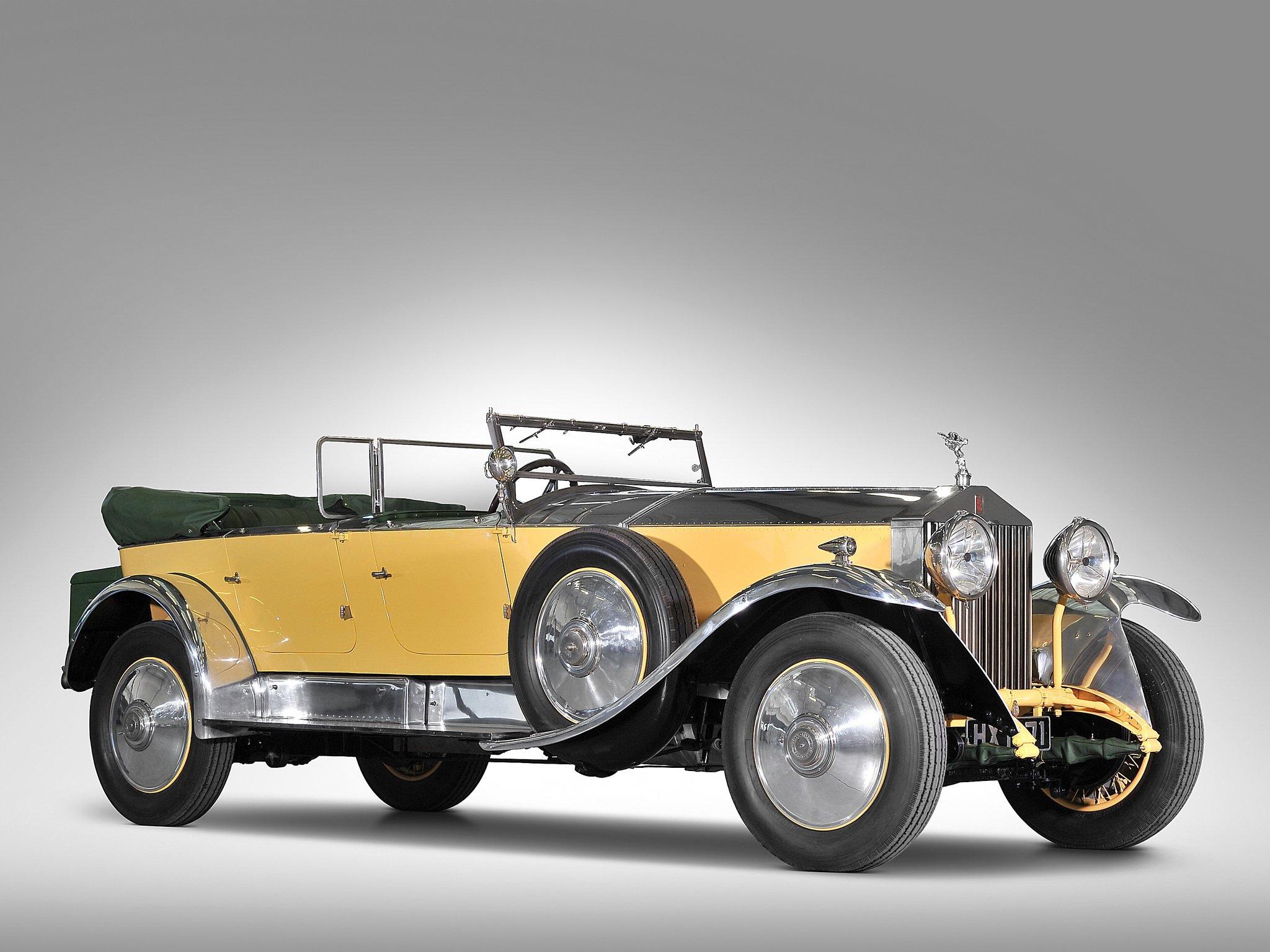 1929 Rolls Royce Phantom I Tourer Barker retro convertible luxury