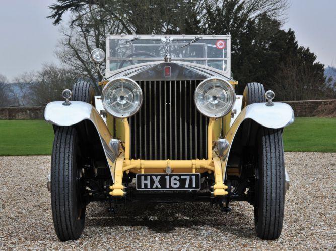 1929 Rolls Royce Phantom I Tourer Barker retro convertible luxury e wallpaper