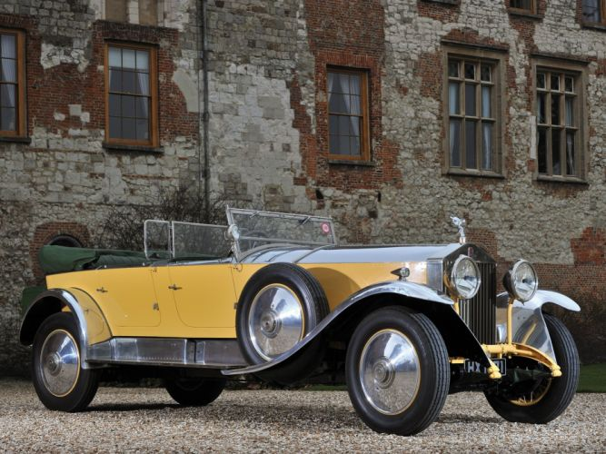 1929 Rolls Royce Phantom I Tourer Barker retro convertible luxury f wallpaper