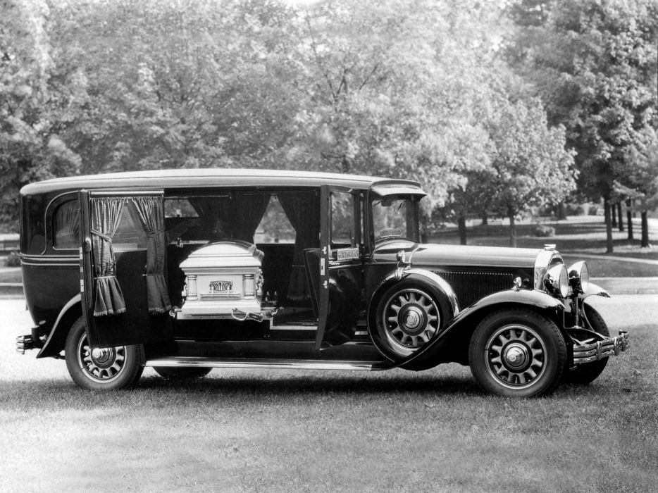 1931 Flxible Buick Series-90 Side-Servicing Hearse stationwagon emergency retro ambulance d wallpaper