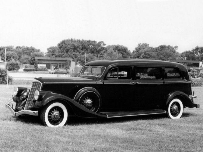 1934 Henney Pierce Arrow Model 840A Arrowline Limousine Hearse stationwagon retro h wallpaper