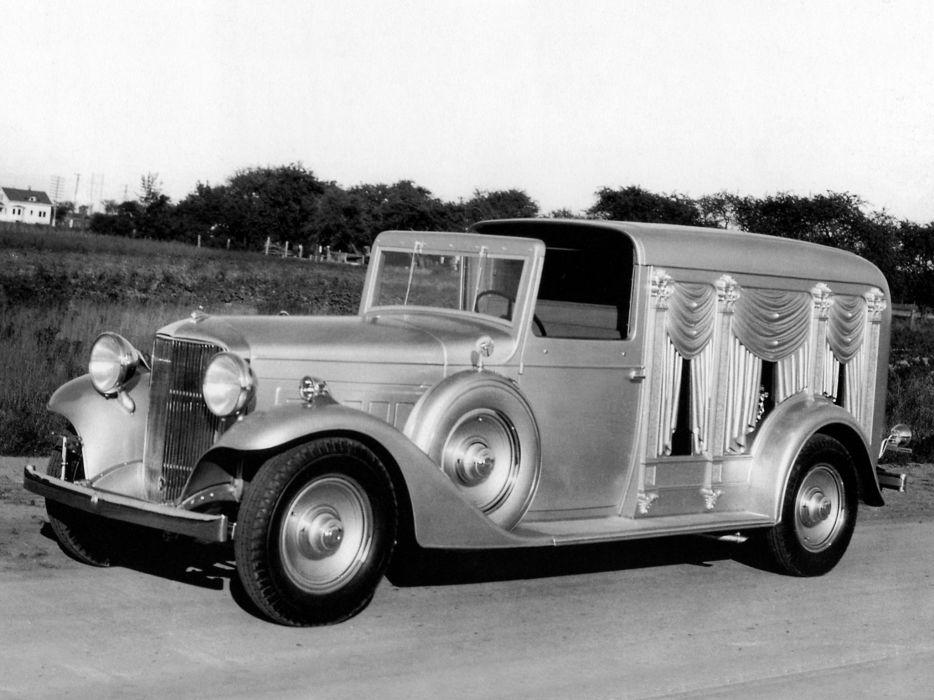 1933 Cunningham Lincoln Town Car Hearse stationwagon retro f wallpaper