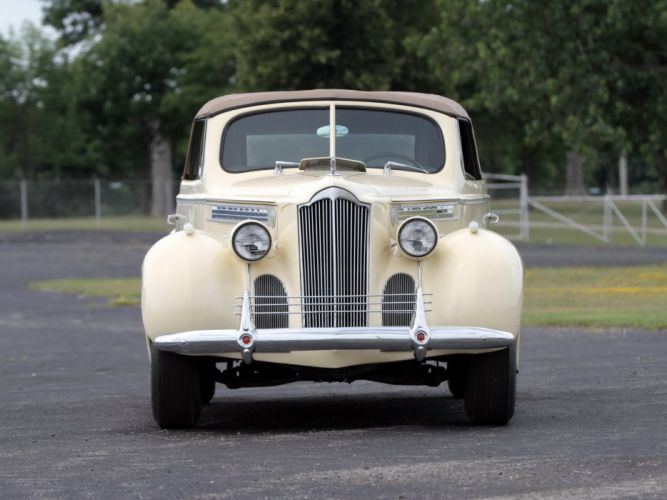 1940 Packard 120 Convertible Coupe (1801-1399) retro luxury ui wallpaper