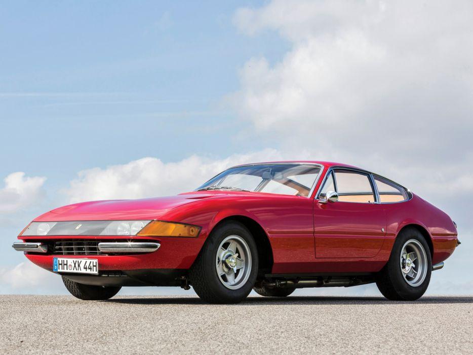 1968-71 Ferrari 365 GTB-4 Daytona UK-spec supercar classic d wallpaper