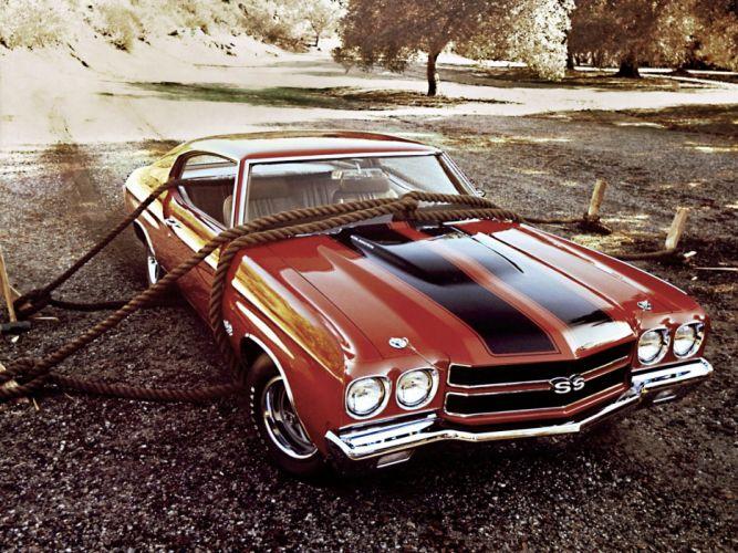 1970 Chevrolet Chevelle S-S 454 Hardtop Coupe muscle classic d wallpaper