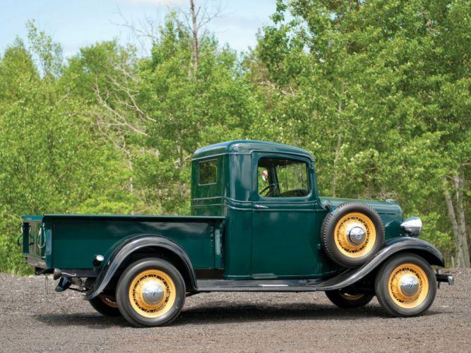 1934 Chevrolet Closed-Cab Pickup (D-B) retro (1) wallpaper