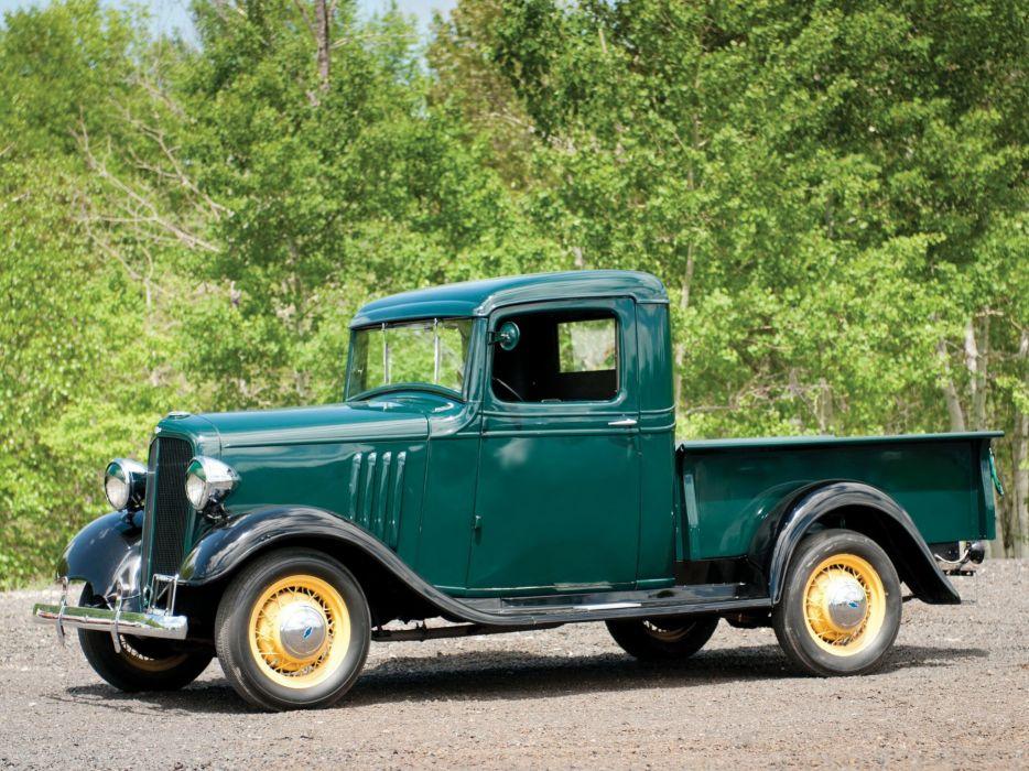 1934 Chevrolet Closed-Cab Pickup (D-B) retro (3) wallpaper