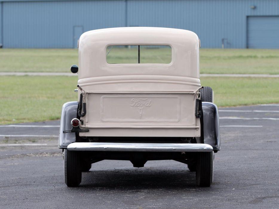 1937 Ford V-8 Deluxe Pickup (77-830) retro (4) wallpaper