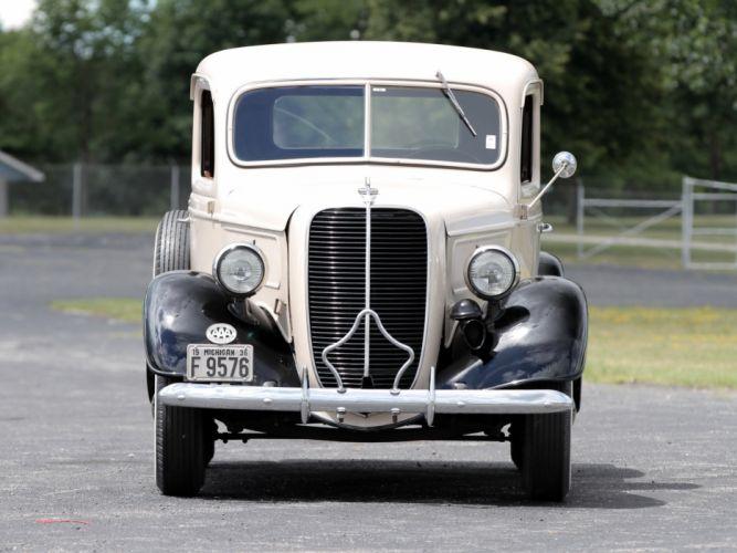 1937 Ford V-8 Deluxe Pickup (77-830) retro (3) wallpaper