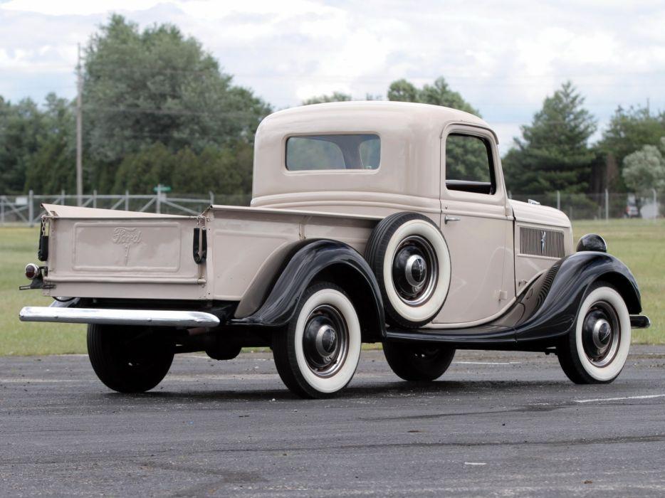 1937 Ford V-8 Deluxe Pickup (77-830) retro (5) wallpaper