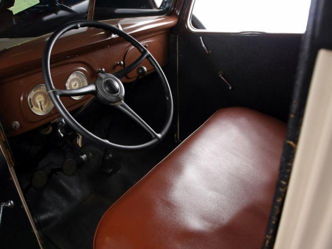 1937 Ford V-8 Deluxe Pickup (77-830) retro (7) wallpaper