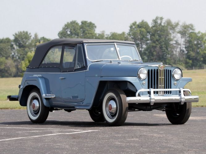 1948 Willys Overland Jeepster (V-J) jeep retro (1) wallpaper
