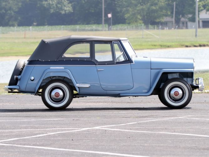 1948 Willys Overland Jeepster (V-J) jeep retro (4) wallpaper