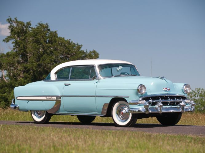 1954 Chevrolet Bel-Air Sport Coupe (C-2454-1037D) bel air retro (11) wallpaper