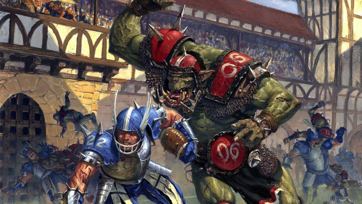 BLOOD-BOWL football sports strategy blood bowl action fantasy (22) wallpaper