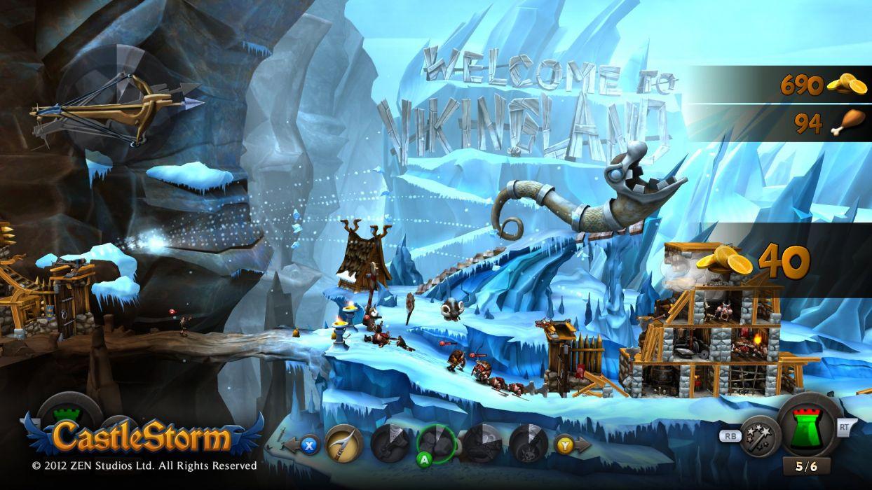 CASTLESTORM 2-d strategy real-time fantasy physics destruction fighting (4) wallpaper