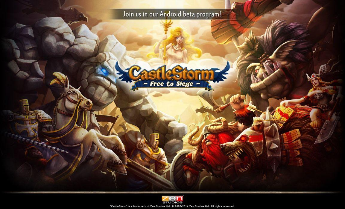 CASTLESTORM 2-d strategy real-time fantasy physics destruction fighting (5) wallpaper