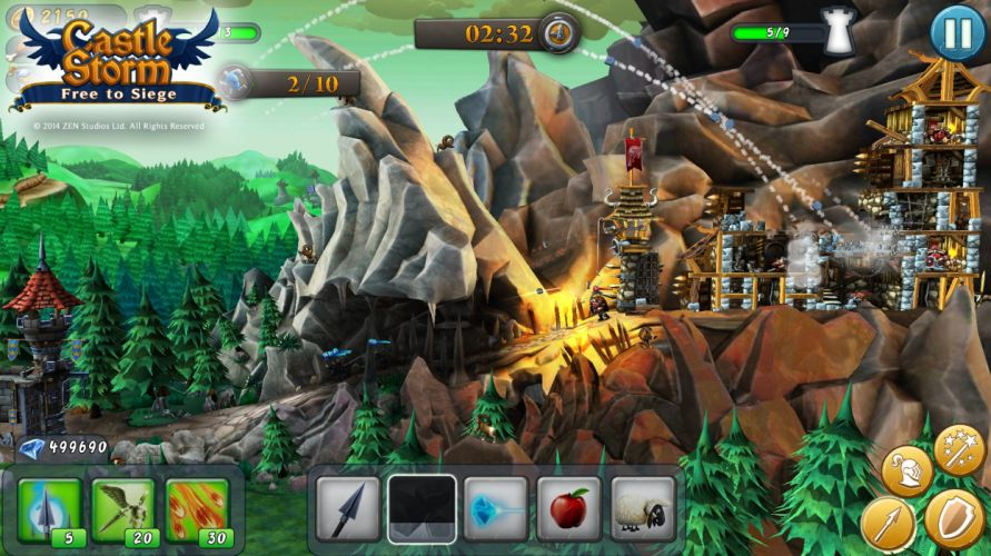 CASTLESTORM 2-d strategy real-time fantasy physics destruction fighting (4) wallpaper