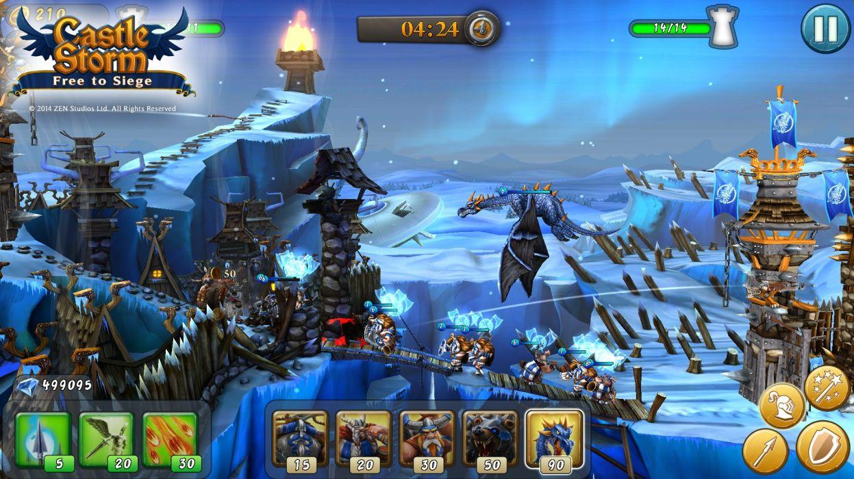 CASTLESTORM 2-d strategy real-time fantasy physics destruction fighting (9) wallpaper