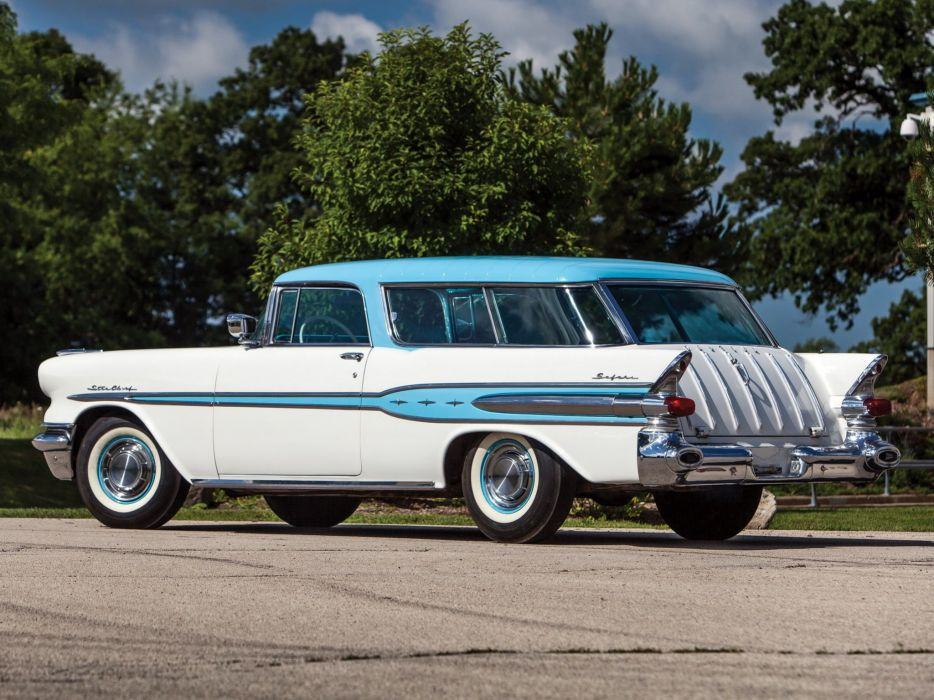 1957 Pontiac Star Chief Custom Safari 2-door (2764DF) stationwagon retro (5) wallpaper