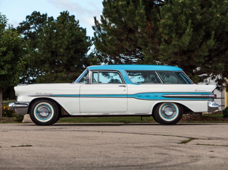 1957 Pontiac Star Chief Custom Safari 2-door (2764DF) stationwagon retro (2) wallpaper