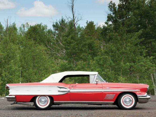 1958 Pontiac Bonneville Custom Convertible (2567SD) retro (2) wallpaper