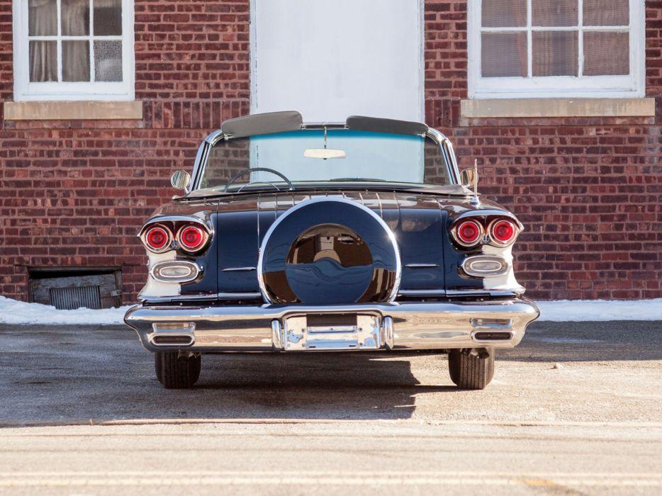 1958 Pontiac Bonneville Custom Convertible (2567SD) retro (5) wallpaper
