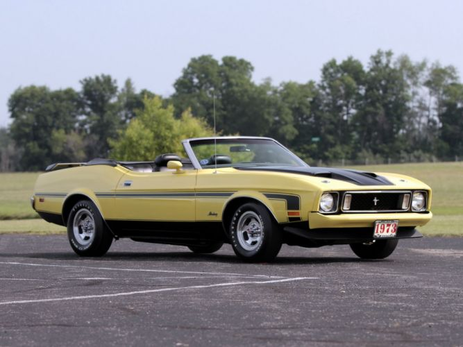 1973 Ford Mustang Convertible (76D) muscle classic e wallpaper