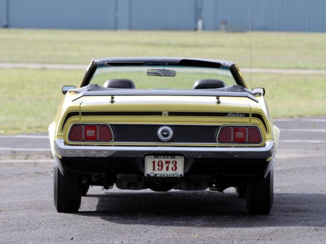 1973 Ford Mustang Convertible (76D) muscle classic w wallpaper