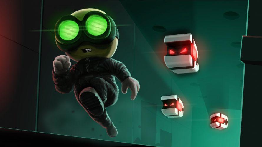 STEALTH-BASTARD 2-D platform tactical sci-fi family stealth bastard (7) wallpaper