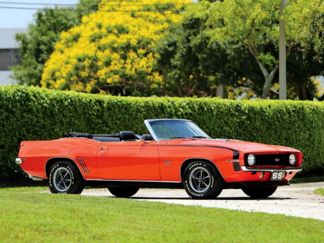 1969 Chevrolet Camaro SS 396 Convertible muscle classic (1) wallpaper