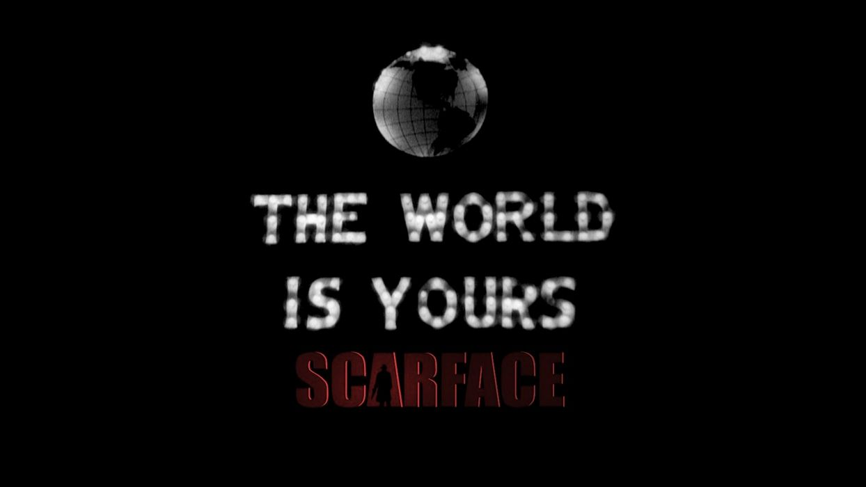 1932 Scarface The World Is Yours Wallpaper
