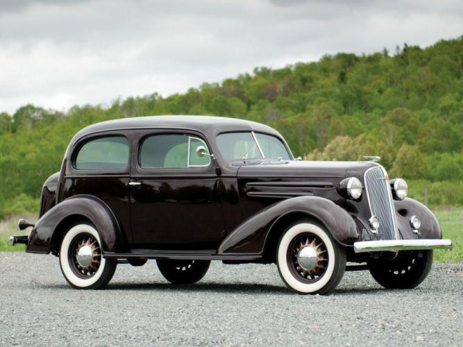 1936 Chevrolet Standard 2-door Town Sedan (F-C) retro (1) wallpaper