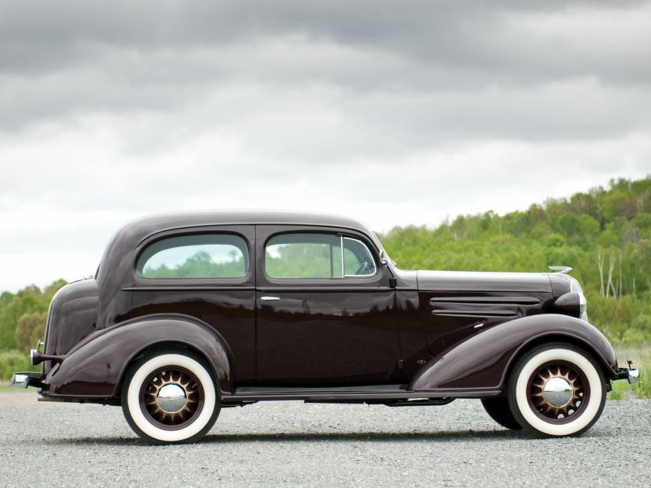 1936 Chevrolet Standard 2-door Town Sedan (F-C) retro (5) wallpaper