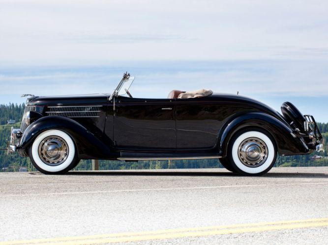 1936 Ford V-8 Deluxe Roadster (68-710) retro gd wallpaper