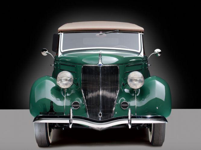 1936 Ford V-8 Deluxe Roadster (68-710) retro w wallpaper