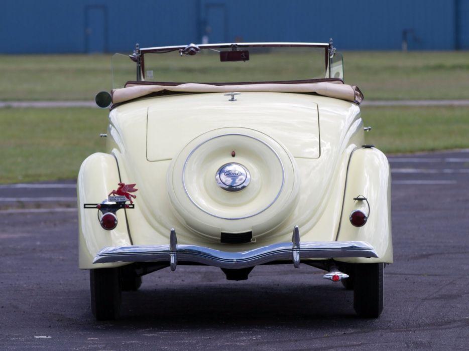 1936 Ford V-8 Deluxe Roadster (68-710) retro wt wallpaper
